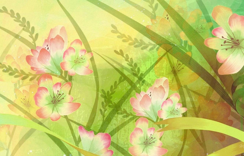 Photo wallpaper flowers, figure, petals, fabric, canvas