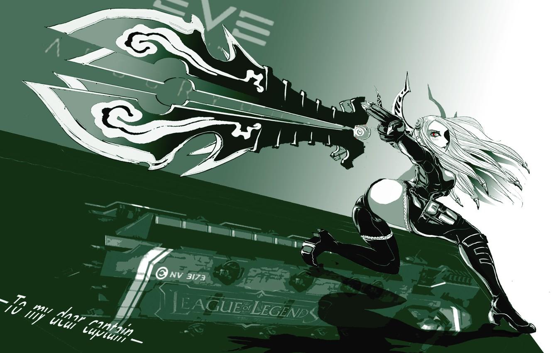 Photo wallpaper lol, blade, League of legends, Irelia
