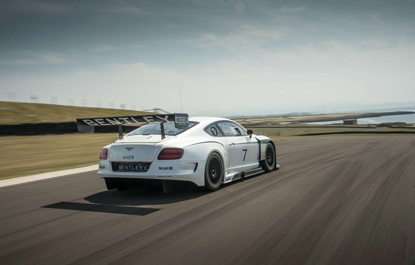 Photo wallpaper bentley, lake, race, racing, continental gt3
