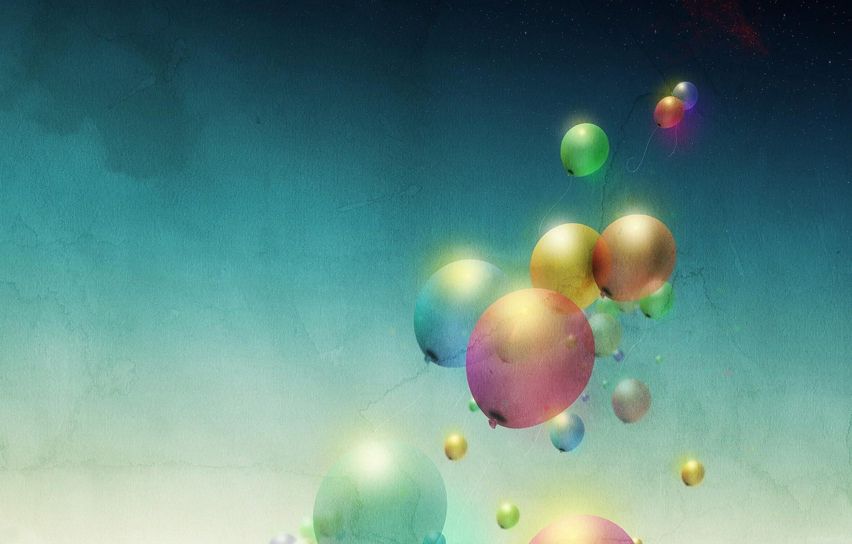 Photo wallpaper color, balls, minimalism, art, air