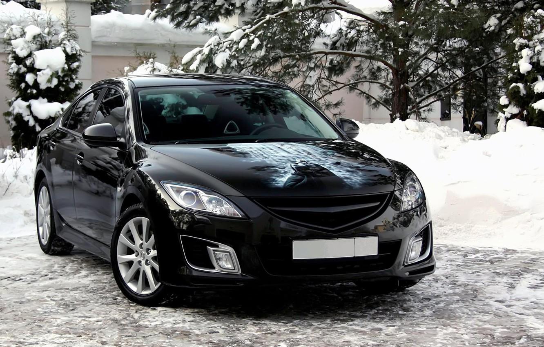 Photo wallpaper snow, Mazda 6, Batman