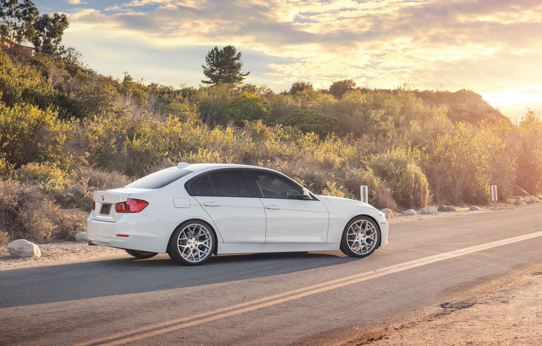 Photo wallpaper BMW, white, 328i, F30, Sedan, 3 Series