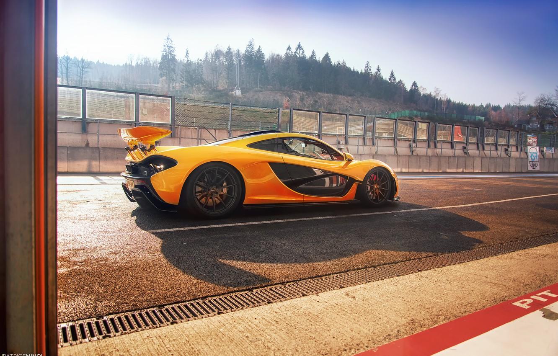 Photo wallpaper McLaren, track, Yellow, McLaren, Supercar, Yellow, Hypercar, Supercar, Hypercar, Spa