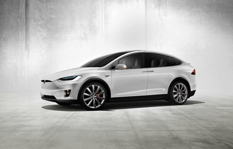 Photo wallpaper Concept, the concept, Tesla, Model X, Tesla, electric car