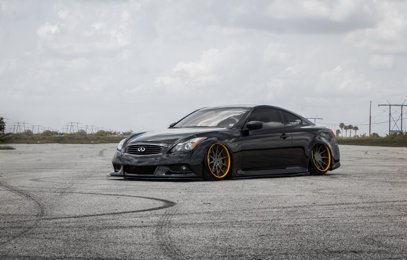 Photo wallpaper Infiniti, Black, Forged, G37s, Incurve, IPL, FS10