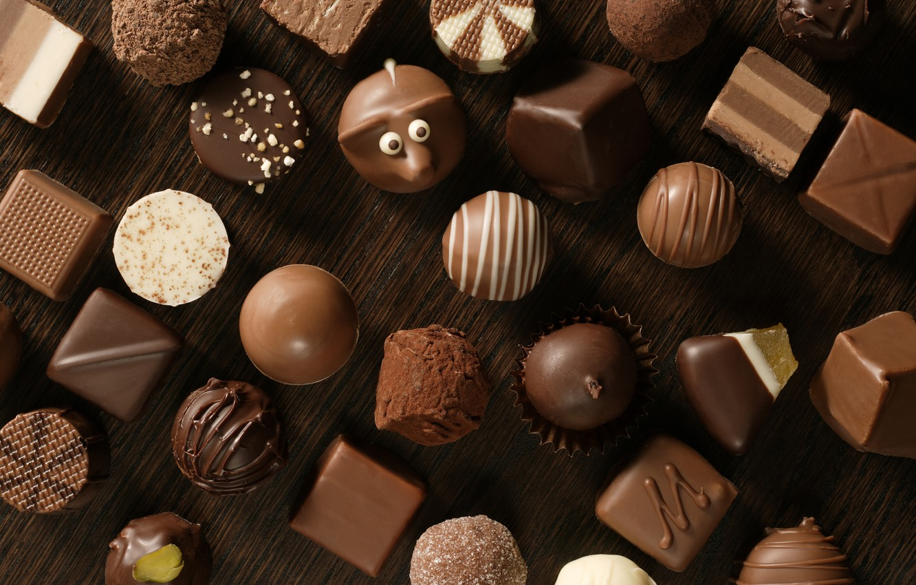 Photo wallpaper white, chocolate, candy, Black, sweet, chocolate, candy, milk