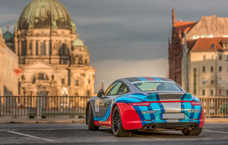 Photo wallpaper the city, Porsche 911, Carrera 4S
