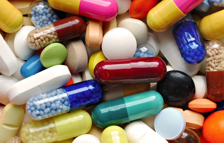 Photo wallpaper pills, medicine, capsules