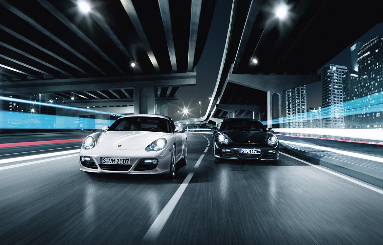 Photo wallpaper road, race, speed, porsche
