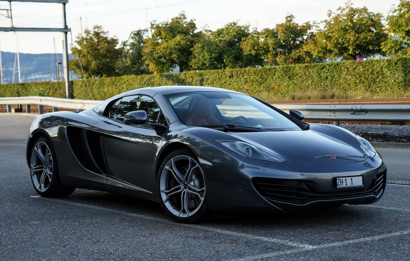 Photo wallpaper McLaren, MP4-12C, gray