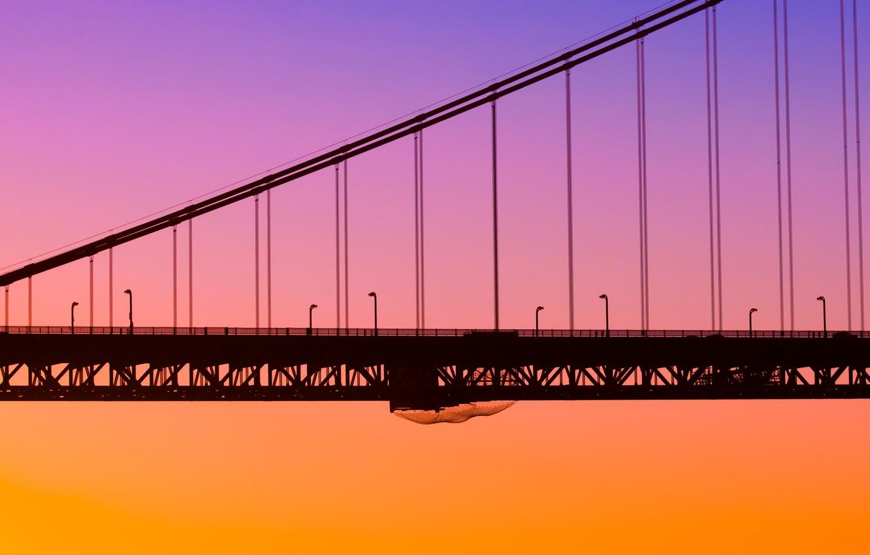 Wallpaper Bridge The City Dawn California San Francisco