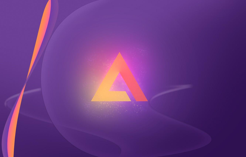 Photo wallpaper Logo, Wallpaper, AIMP, Minimalism, Artem Izmaylov Media Player, Alpha
