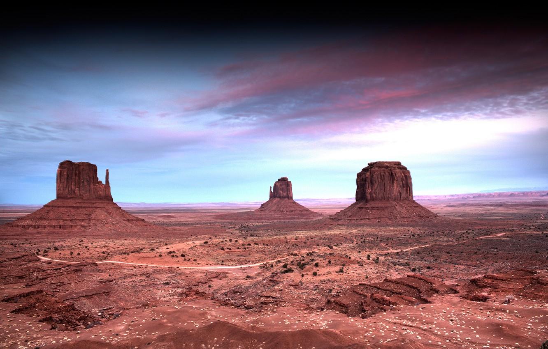 Photo wallpaper the sky, clouds, landscape, nature, desert, sky, landscape, nature, clouds, 2560x1600, dessert