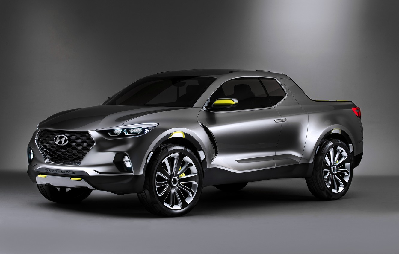 Photo wallpaper Concept, Hyundai, Santa, Cruz, Hyundai