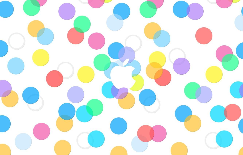 Photo wallpaper circles, Apple, Apple, iphone, ipad, EPL, Apple, ios, ios 7