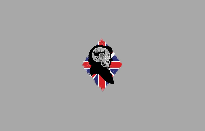 Photo wallpaper Skull, Britain, UK, Sherlock Holmes, Britain, Sherlock, Bored, Bored