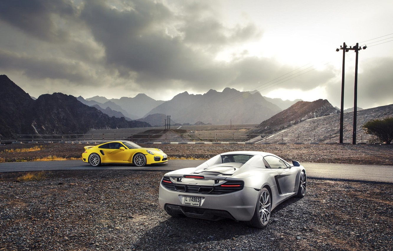 Photo wallpaper 911, Porsche, McLaren, Porsche, Spyder, MP4-12C, Turbo, Supercars, Supercars, Mclaren