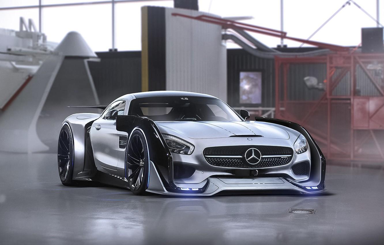 Photo wallpaper Mercedes-Benz, AMG, Tuning, Future, Sci-Fi, by Khyzyl Saleem