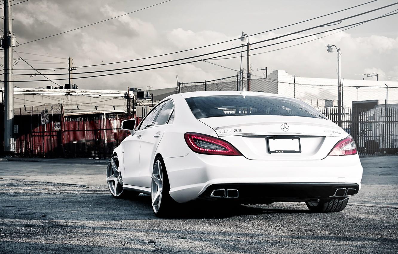 Photo wallpaper Mercedes-Benz, AMG, White, CLS63, CLS Class