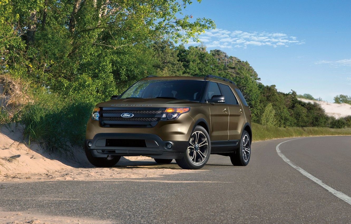 Photo wallpaper Ford, Ford, Sport, Explorer, Explorer, 2015, U502