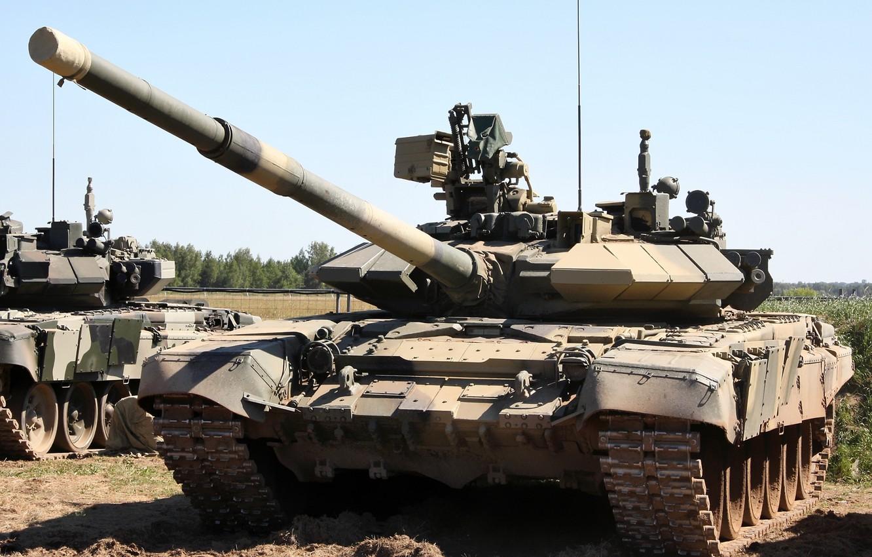 Photo wallpaper Tank, T-90, Main battle tank Russia