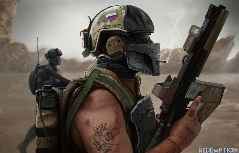 Photo wallpaper war, art, glasses, soldiers, cigarette, machine, helmet, smokes, Russian
