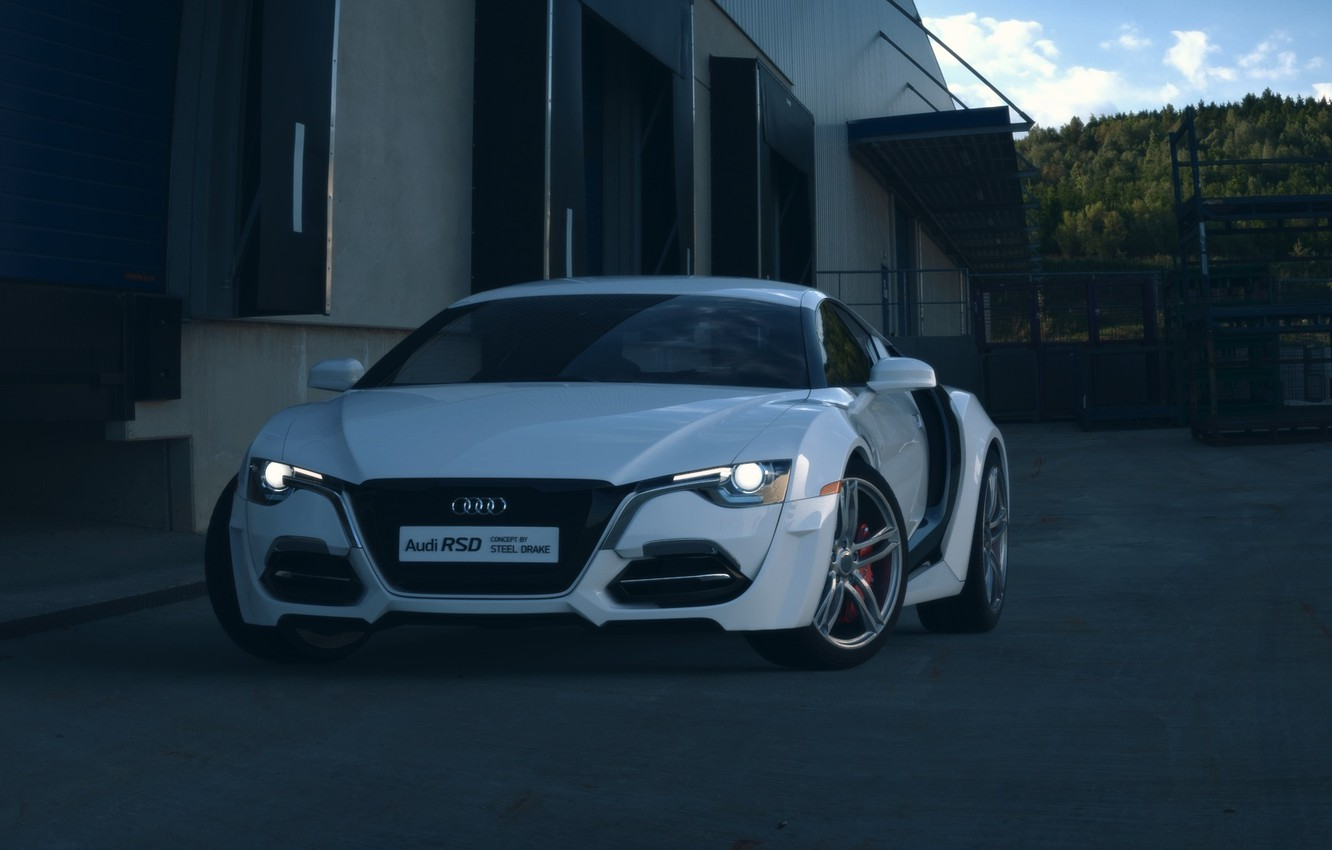 Photo wallpaper Concept, Audi, Car, Auto, Front, White, Ligth, RSD