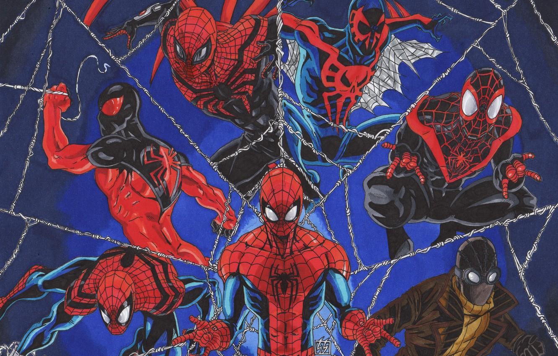 Wallpaper Marvel Comics Spider Man Peter Parker Scarlet Spider