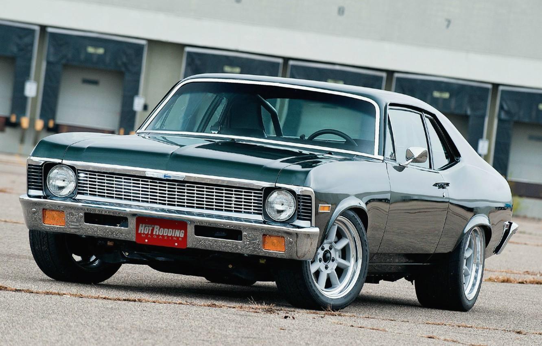 Photo wallpaper Chevrolet, Muscle, Car, Car, Car, 1970, Wallpapers, Nova, Beautiful, Nova, Wallpaper, The front, Kar, Chevrolet, …