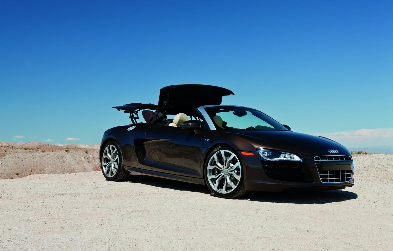 Photo wallpaper supercar, Audi R8, cars, auto, 2011, Spyder, cars walls, Supercars, Wallpaper HD, audi wallpapers