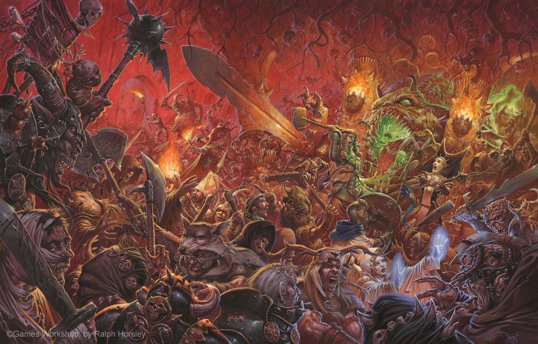 Wallpaper Soldiers Battle Fantasy Warhammer Demons Heretics Empire Battles Negitivly Images For Desktop Section Igry Download