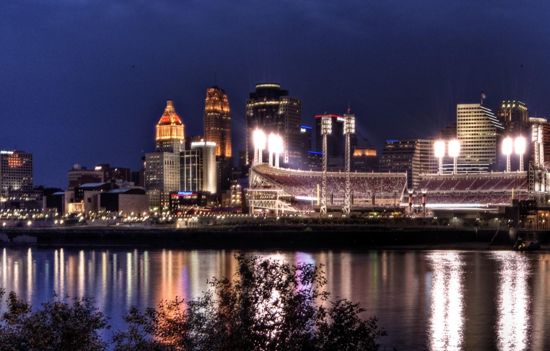 Photo wallpaper city, the city, USA, Cincinnati, Ohio