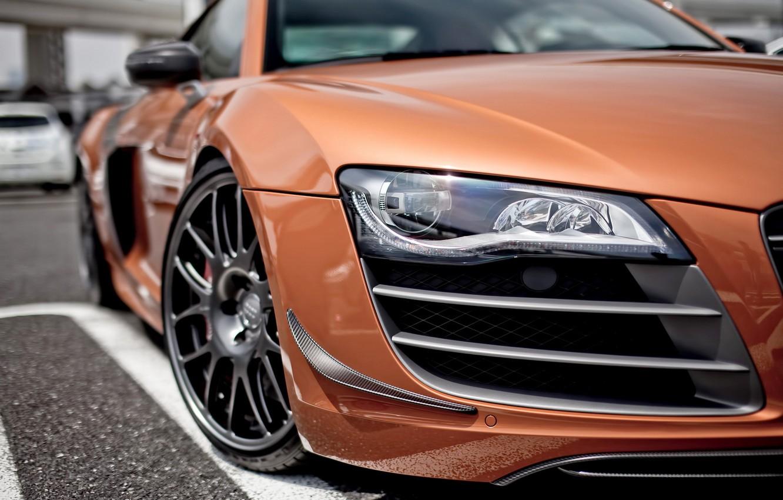 Photo wallpaper Audi, audi, tuning, headlight, blur, the front