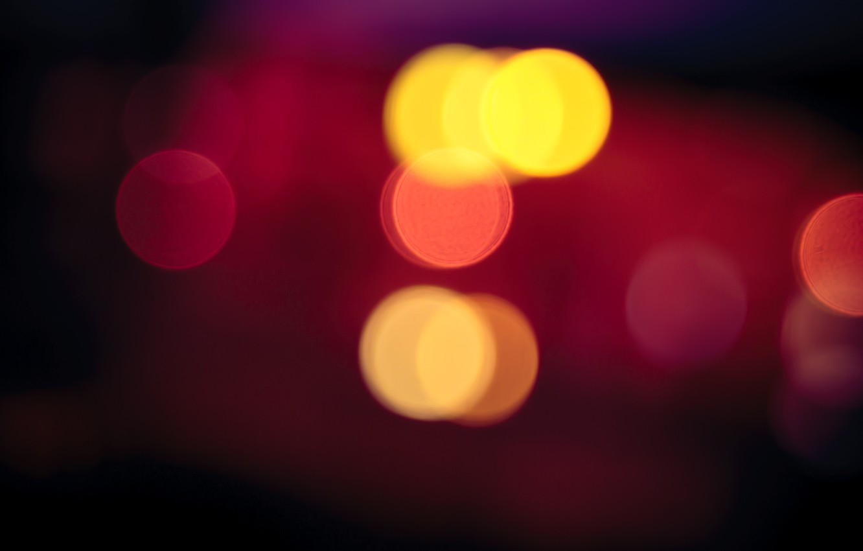 Photo wallpaper photo, bokeh, Red Light Blur