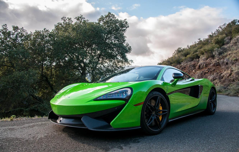Photo wallpaper Green, Mclaren, 570s, Super car