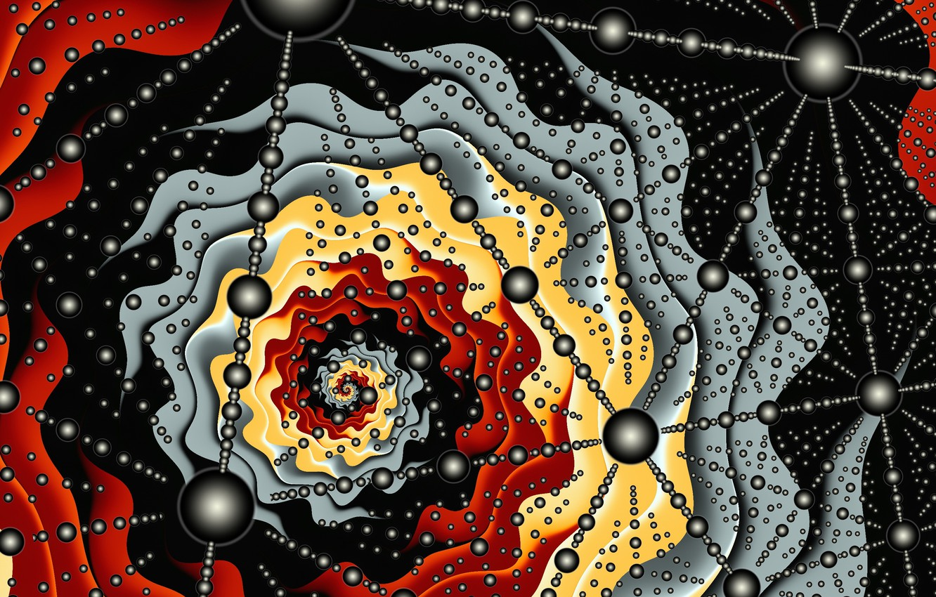 Photo wallpaper abstraction, color, form, fractal