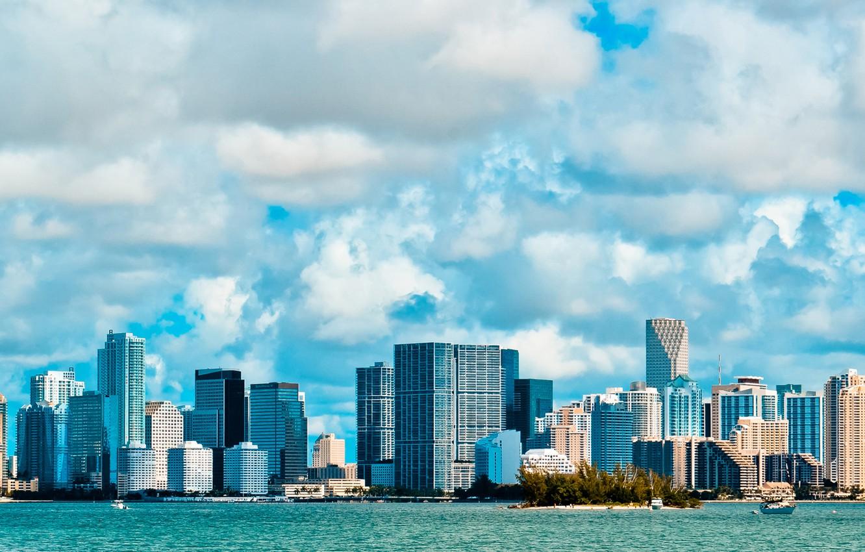 Photo wallpaper the sky, clouds, building, America, USA, america, usa, florida, miami beach, Miami, FL, miami, flats