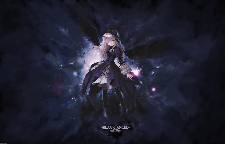Photo wallpaper wings, rozen maiden, suigintou, black angel