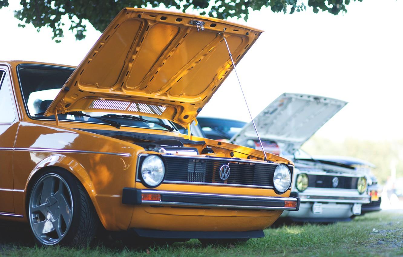 Photo wallpaper volkswagen, Golf, golf, Volkswagen, mk1
