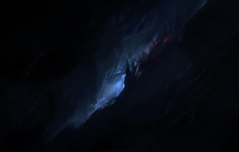 Photo wallpaper space, blue, cosmos, galaxy