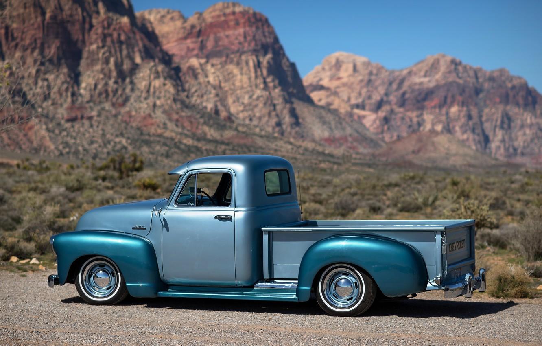 Photo wallpaper nature, retro, background, Chevrolet, pickup, pickup