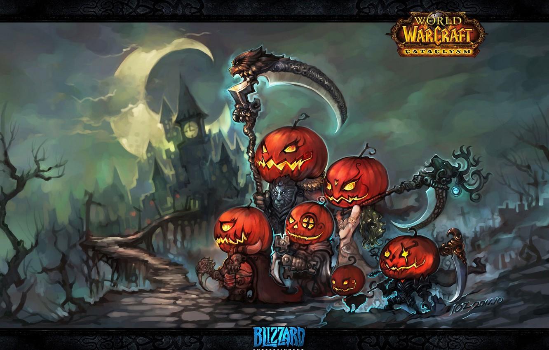 Wallpaper Weapons Art Elves Pumpkin Halloween Halloween Wow