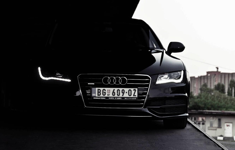 Photo wallpaper Audi, black