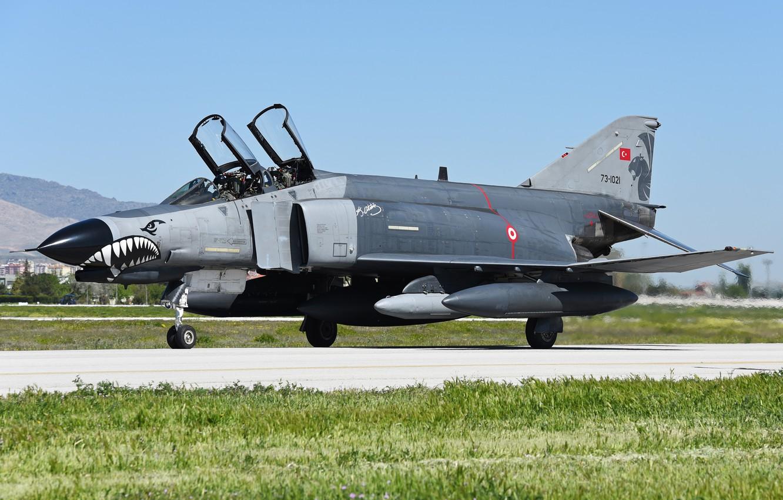 Photo wallpaper fighter, multipurpose, Phantom II, McDonnell Douglas, F-4E, Phantom II