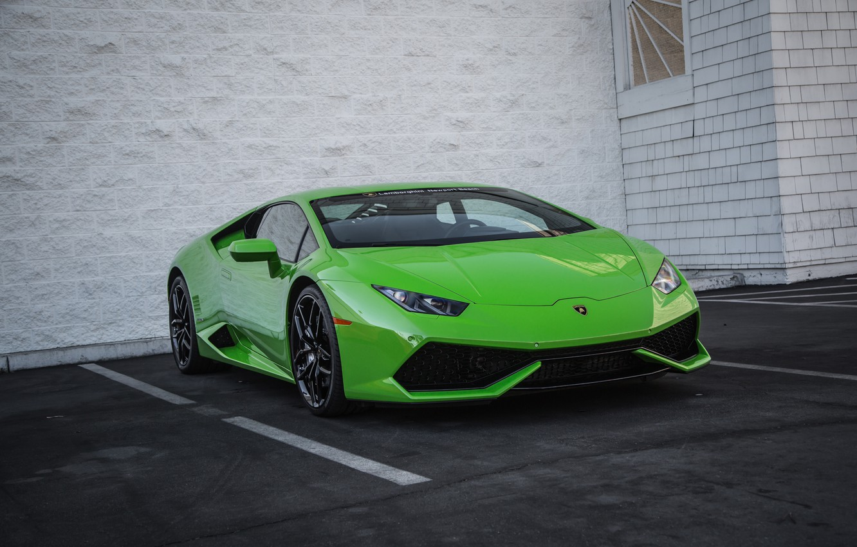 Photo wallpaper Lamborghini, Green, Huracan