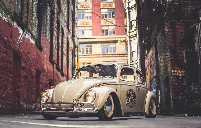 Photo wallpaper Volkswagen, Street, Beetle, 64