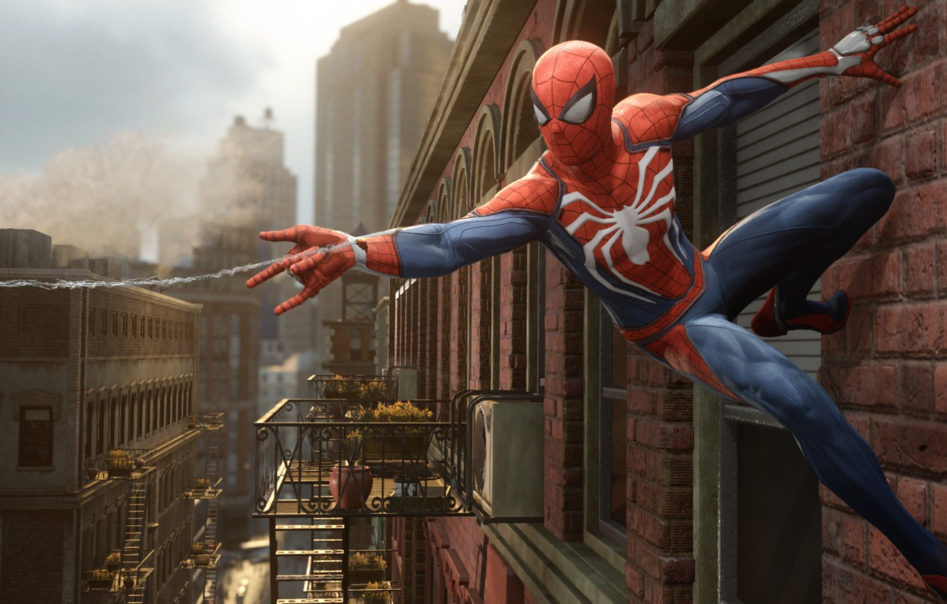 Photo wallpaper Sony, Marvel, Game, Spider Man, PS4
