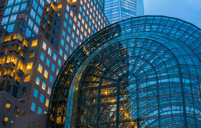 Photo wallpaper glass, the city, the building, new York, Manhattan, new york city, manhattan