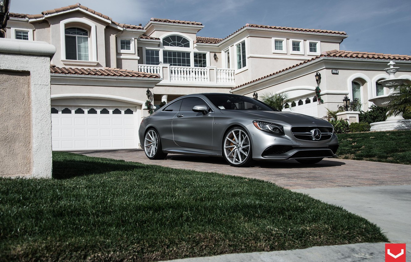 Photo wallpaper Tuning, Mercedes, Mercedes, AMG, Coupe, Vossen, S63