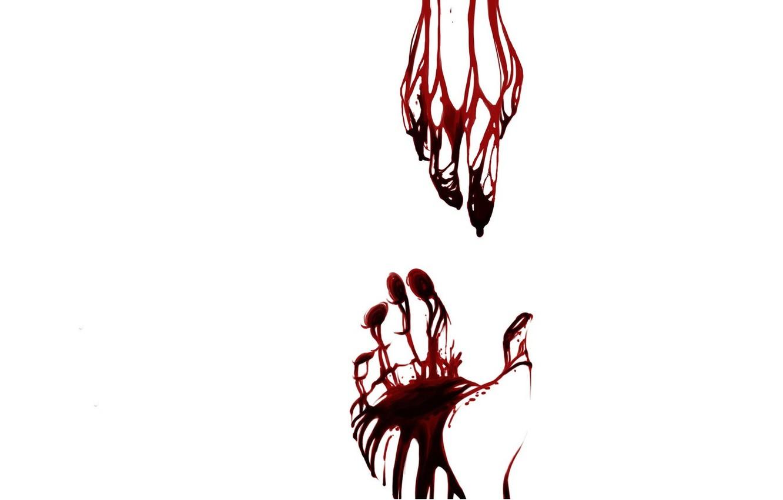 Photo wallpaper void, blood, Hands, pain